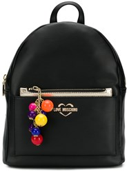 Love Moschino Contrast Charm Backpack Black