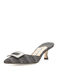 Arriga Buckle Mule Slide Black Manolo Blahnik