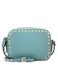Valentino Rockstud Leather Crossbody Bag Turquoise