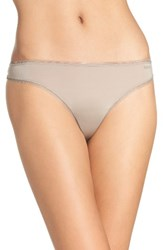 Dkny Women's Low Rise Thong Sandalwood