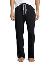 Neiman Marcus Drawstring Knit Lounge Pants Black
