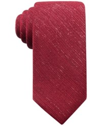 Ryan Seacrest Distinction Men's Shimmer Chiffon Solid Tie Created For Macy's Red