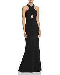 Js Collections Keyhole Gown Black