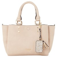 Dune Dizzie Winged Top Handle Shoulder Bag Taupe