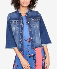 Rachel Roy Ripped Denim Jacket Created For Macy's Felicity Medium Wash