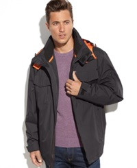 London Fog Easton Hooded 3 In 1 Systems Jacket Dark Brown