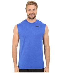 Nike Dri Fit Training Muscle Tank Top Game Royal Black Men's Sleeveless Blue