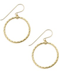 Macy's Twisted Hoop Earrings In 10K Gold