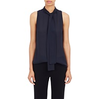 Nili Lotan Tieneck Sleeveless Blouse Navy