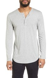 Goodlife Scallop Cotton And Modal Henley Lt Heather Grey