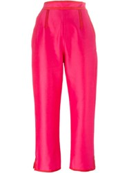 Isa Arfen Cropped Trousers Pink And Purple