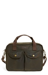 Men's Barbour 'Longthorpe' Waxed Canvas Laptop Bag