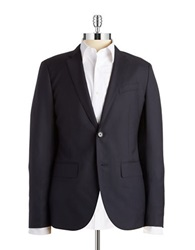 Lucky Brand Lightweight Wool Blazer Blue