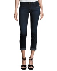Ag Jeans The Silt Roll Up Cropped Cigarette 4 Years Workroom Indigo