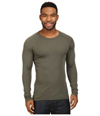 Icebreaker Everyday Long Sleeve Crewe Cargo Men's Clothing Taupe