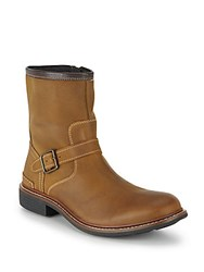 Cole Haan Bryce Leather Moto Boots Partridge