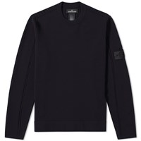 Stone Island Shadow Project Stretch Wool Intarsia Crew Blue