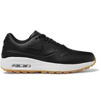 Nike Golf Air Max 1G Faux Leather And Rubber Golf Shoes Black
