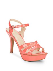 Vince Camuto Princey Patent Open Toe Platform Sandals Coral