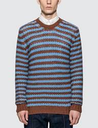 Prada Alpaca Striped Sweater Multicolor