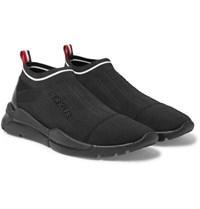 Moncler Stretch Knit Slip On Sneakers Black