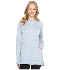 Lucy Om 1 2 Zip Pullover Blue Fog Heather Women's Sweatshirt