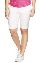Plus Size Women's Lauren Ralph Lauren Stretch Cotton Sateen Shorts White