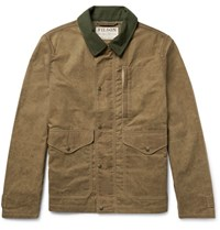 Filson Mile Marker Moleskin Trimmed Waxed Cotton Jacket Tan