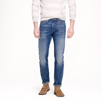 Lee For J.Crew 101 Slim Rider In Saddle Worn Wash