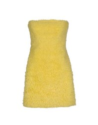 Elisabetta Franchi Gold Dresses Short Dresses Women Yellow