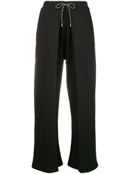 Aalto Tie Front Pleated Joggers Black