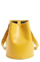 Creatures Of Comfort Small Leather Bucket Bag Yellow