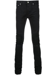 Fagassent Ripped Skinny Jeans Cotton Polyurethane Black