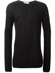 Lost And Found Ribbed Sweater Black