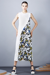 Opening Ceremony Palm Collage Twisted Placket Maxi Dress Summer Yellow Multi