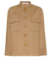 Givenchy Cotton Twill Shirt Beige