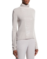Halston Heritage Cashmere Turtleneck Sweater W Back Cutout