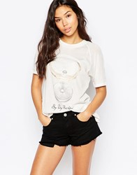 Wildfox Couture Wildfox 'Its Whats For Breakfast' T Shirt Vintage Lace White