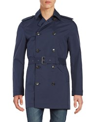 Michael Kors Belted Trench Coat Midnight