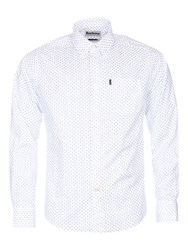 Barbour Curtis Mini Paisley Tailored Shirt White