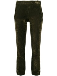 Kiltie Tapered Trousers Green