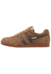 Gola Harrier Trainers Tobacco Dark Brown Camel