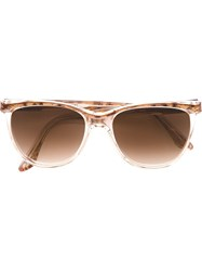 Yves Saint Laurent Vintage Oval Frame Sunglasses Nude And Neutrals