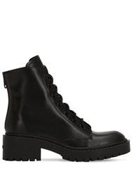 Kenzo 50Mm Leather Ankle Boots Black