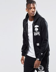 Aape By A Bathing Ape Zip Up Hoodie Black