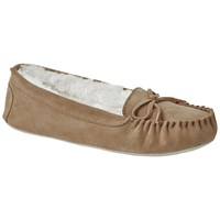 Ted Baker Koizu Suede Bow Slippers Light Tan