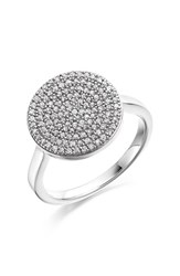 Monica Vinader Women's 'Ava' Diamond Disc Ring