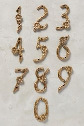 Anthropologie Flowering Branch House Number Gold