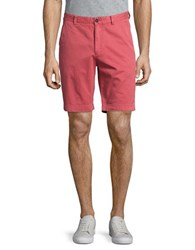 Brooks Brothers Stretch Cotton Chino Shorts Dark Pink