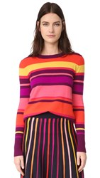 Temperley London Frost Cashmere Sweater Pomegranate
